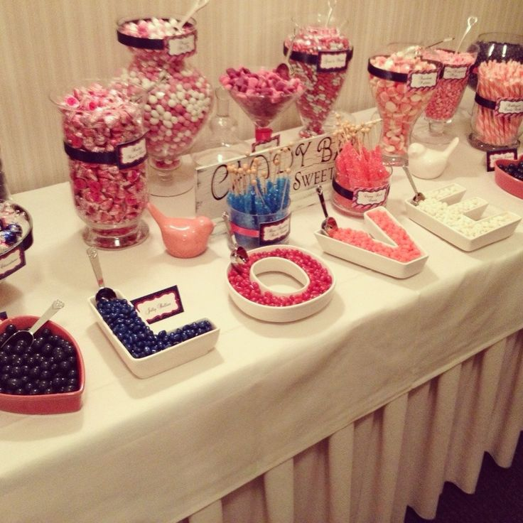 Candy Bar For Wedding Ideas: Wedding Candy Bar Ideas