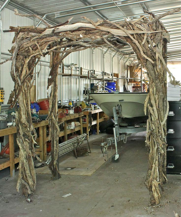 Natural Wood Wedding Arch