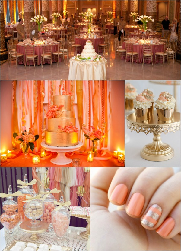 Coral Color Decorations For Wedding Turquoise And Coral Wedding