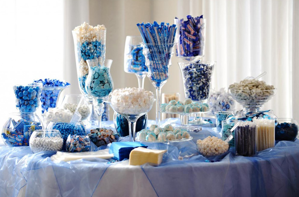 Buffet Decoration Ideas Table Decorating Candy Display For Wedding