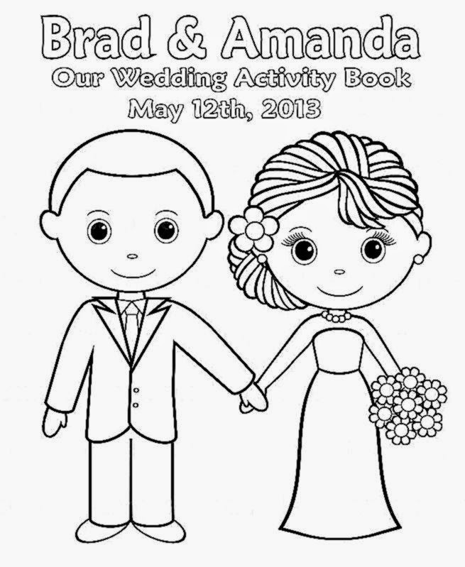Printable wedding coloring book for Coloring pages wedding