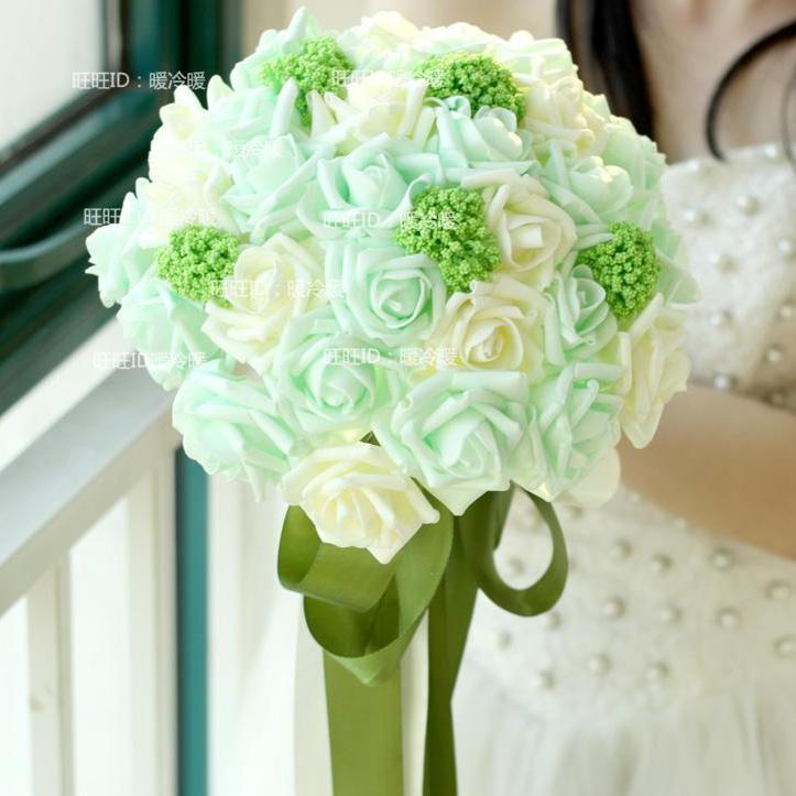 Mint Green Wedding Bouquets