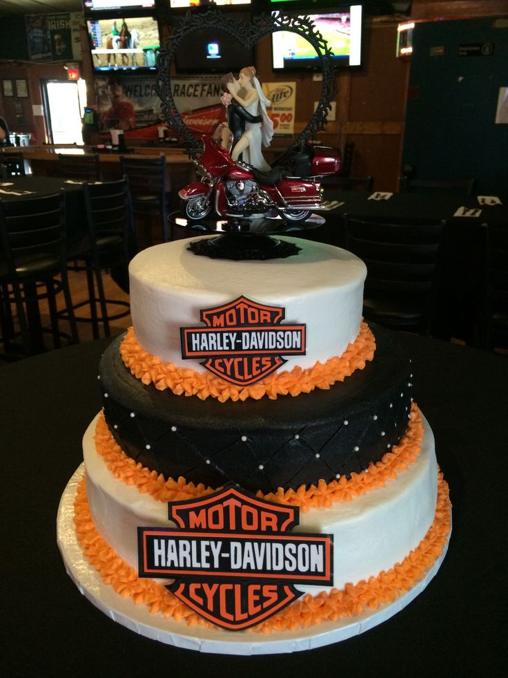 Motorcycle Themed Wedding Cakes