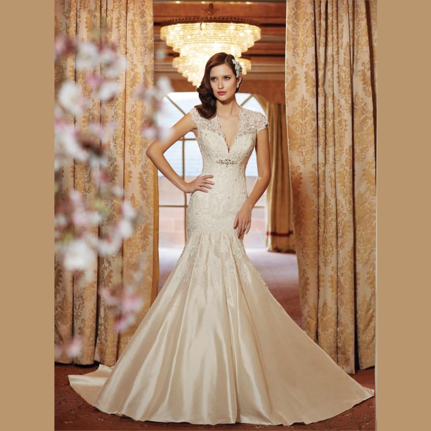 Beige Wedding Dress