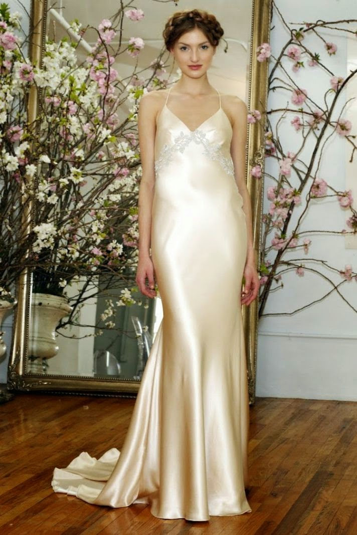 silk slip wedding dress