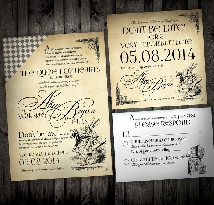 1000 ideas about alice in wonderland invitations on emasscraft org - Alice In Wonderland Wedding Invitations