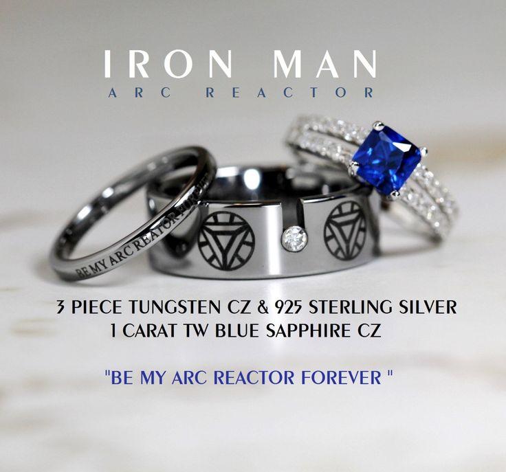 Tungsten Batman Wedding Ring Set