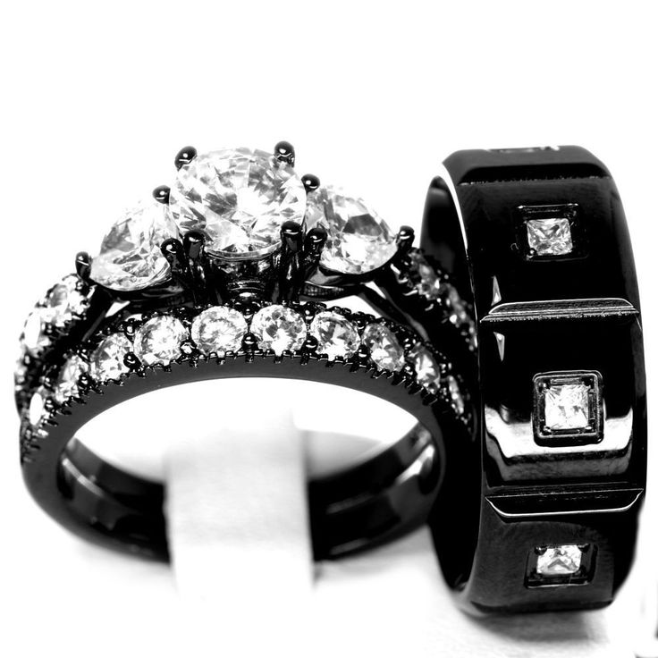 1000 ideas about black wedding rings on emasscraft org - Black Wedding Ring Set