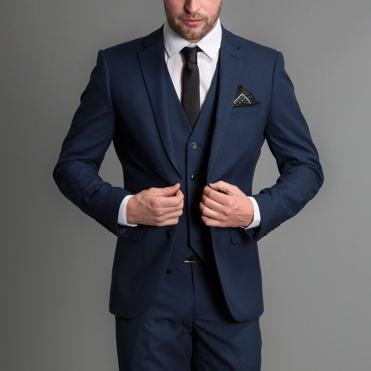 Blue 3 Piece Wedding Suit - Tbrb.info