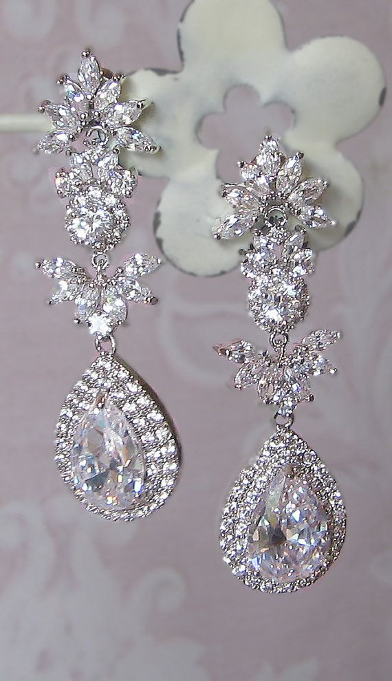 Wedding Chandelier Earrings