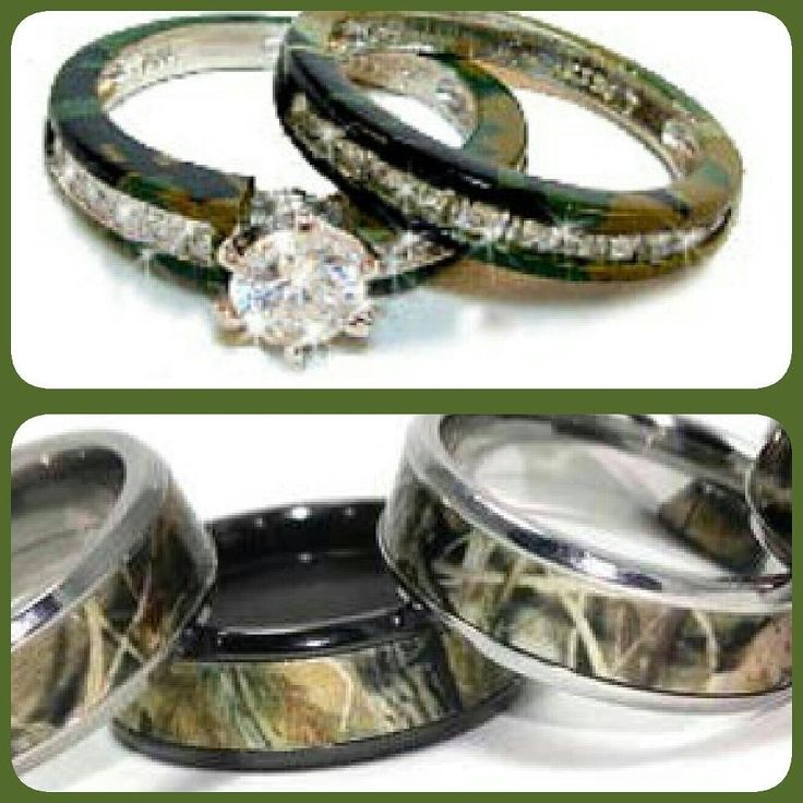 camo wedding ring sets for him and her - Camo Wedding Ring Sets His And Hers