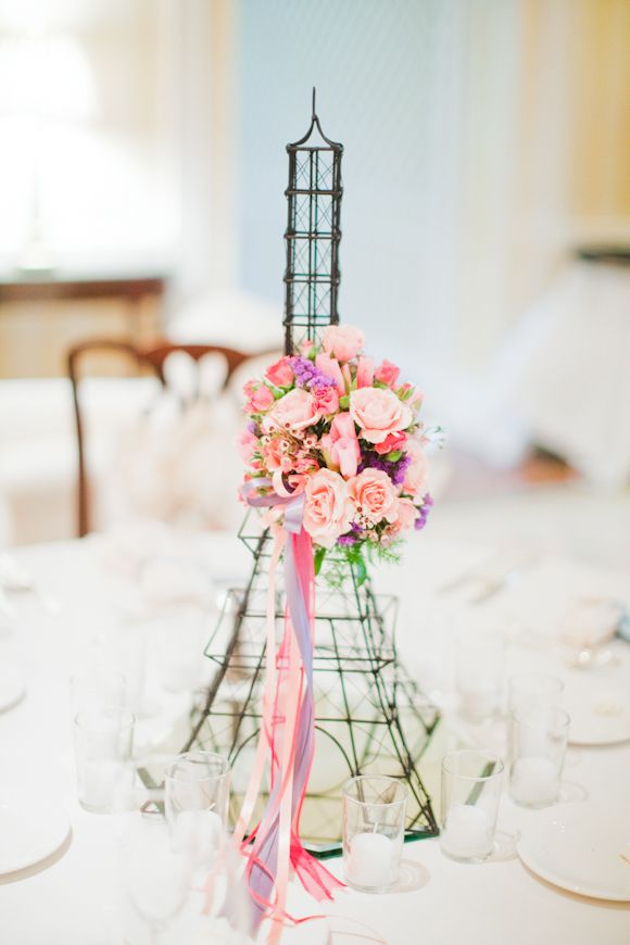 Eiffel tower wedding centerpieces ideas