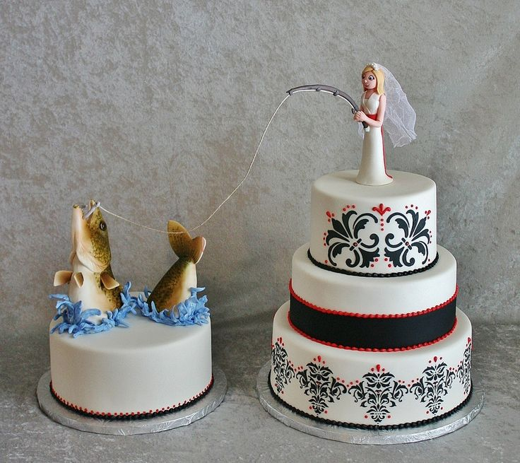 Cake Toppers For Weddings Fishing