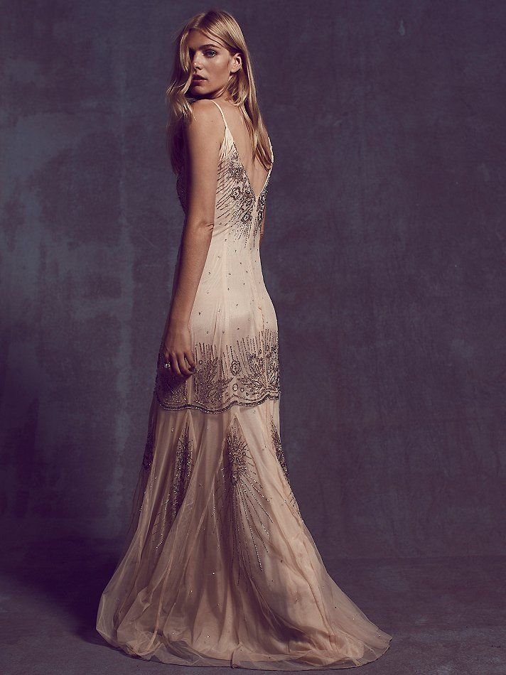 Free people dresses white and gold