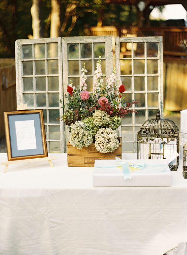 Pictures Of Wedding Gift Tables : Rustic Wedding Gift Table Ideas