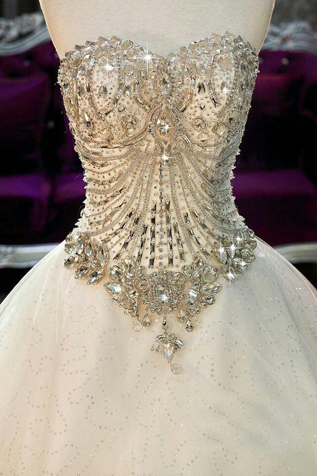Jeweled Wedding Dress