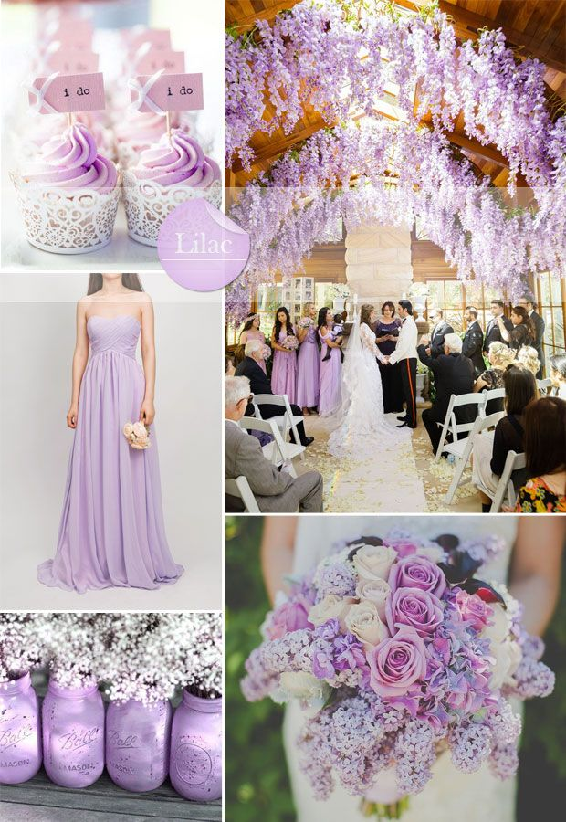 Silver And Lilac Wedding Theme
