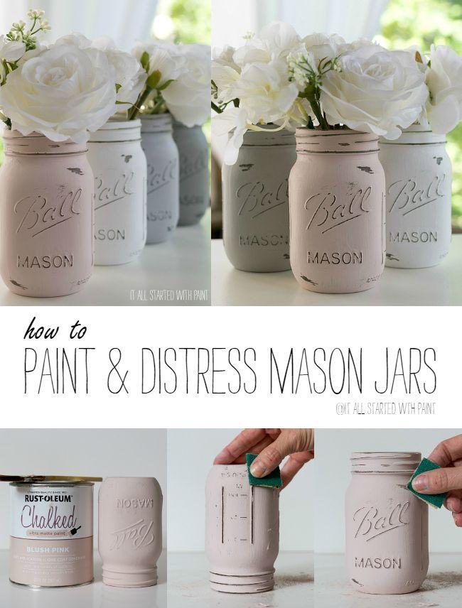 Painted Mason Jar Wedding Centerpieces 1000 Ideas About On Emcraft Org