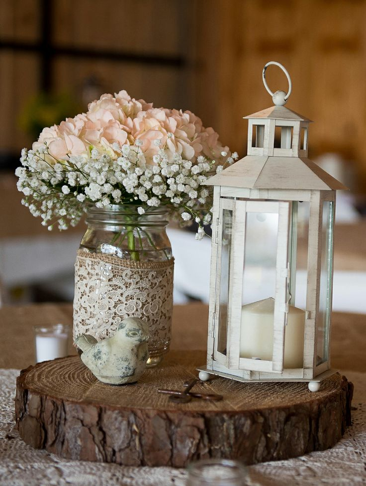 Mason Jar Flower Centerpiece : Mason jar centerpieces for weddings