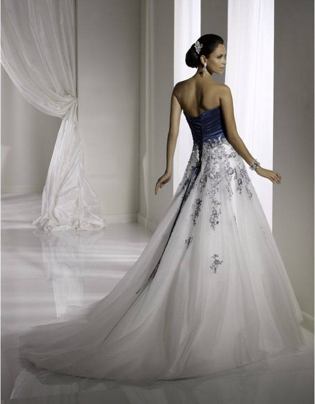 Midnight blue wedding dress for Midnight blue wedding dress