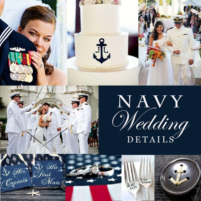 Navy Military Wedding Ideas