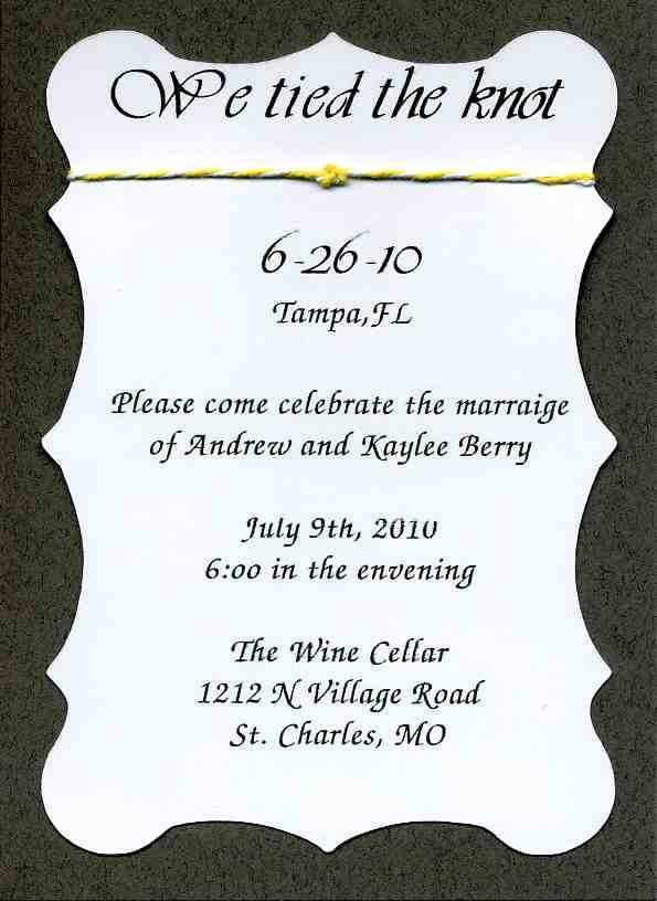 Wedding Reception Invitations Only