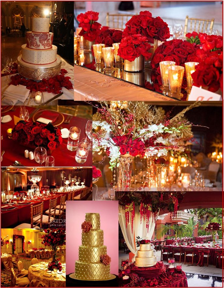 gold and wine red wedding decorations. Black Bedroom Furniture Sets. Home Design Ideas