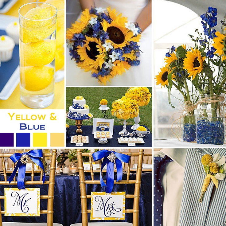 1000 Ideas About Royal Blue Centerpieces On Emcraft Org And Yellow Wedding