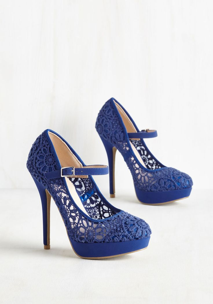 Royal Blue High Heels Wedding Shoes