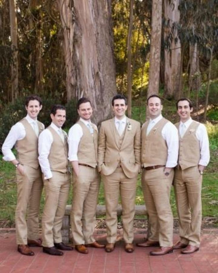 Tan Suits For Wedding: Tan Wedding Suits