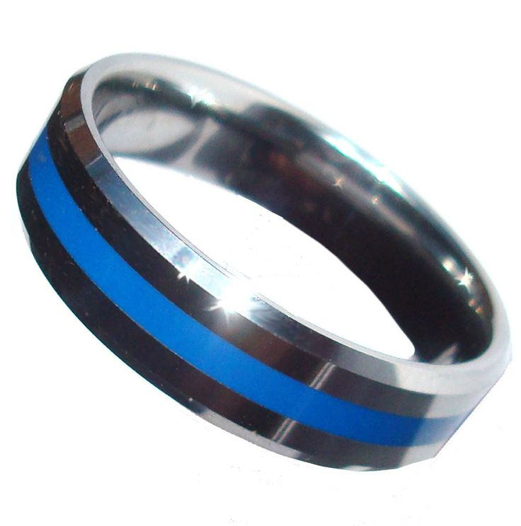 blue rings law elegant white women of gold wedding line thin bands filled ring enforcement for