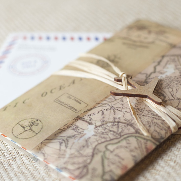 Wedding Invitations Map Theme - Travel wedding invitations template
