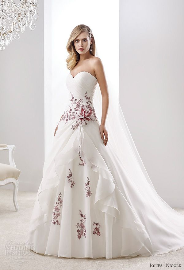 Wedding dress with color 1000 ideas about wedding dresses with color on emasscraft org junglespirit Image collections