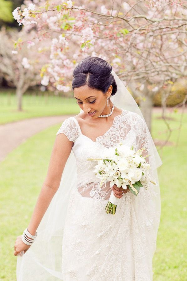 White Wedding Saree