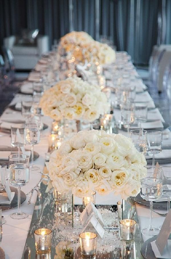 Silver Wedding Decorations For Tables Wedding Ideas