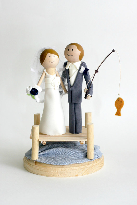 Fishing Wedding Cake Topper 1000 Images About On Emasscraft Org