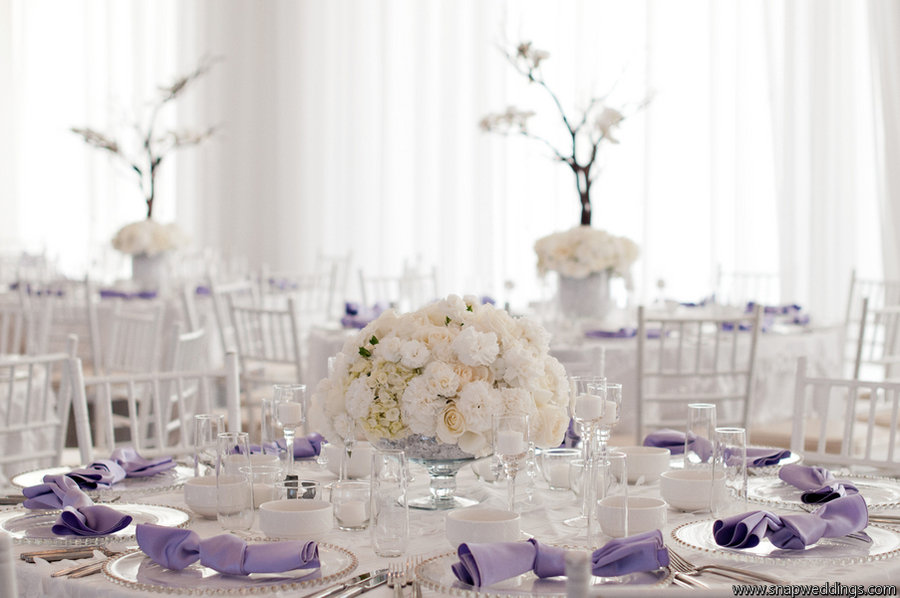 Lilac Decorations Wedding Tables