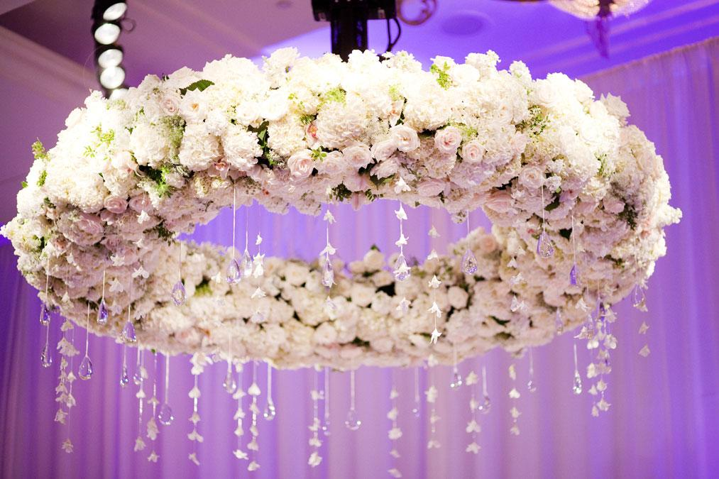 Wedding flower chandelier enchanted wedding reception decor huge floral chandelier 1000 images about hanging centerpieces on emasscraft org aloadofball Gallery