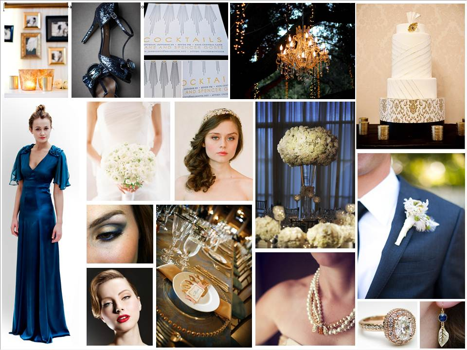 1000 Images About Ivory Gold Midnight Blue Wedding On