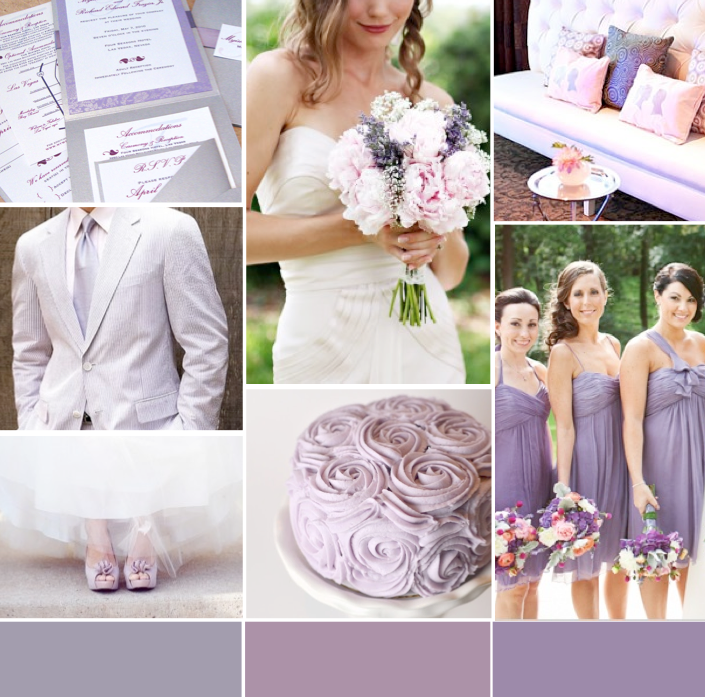 Lavender And Gray Wedding