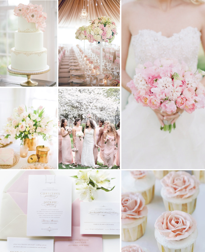 Wedding Flowers Pink And Gold : Pink and gold wedding bouquets