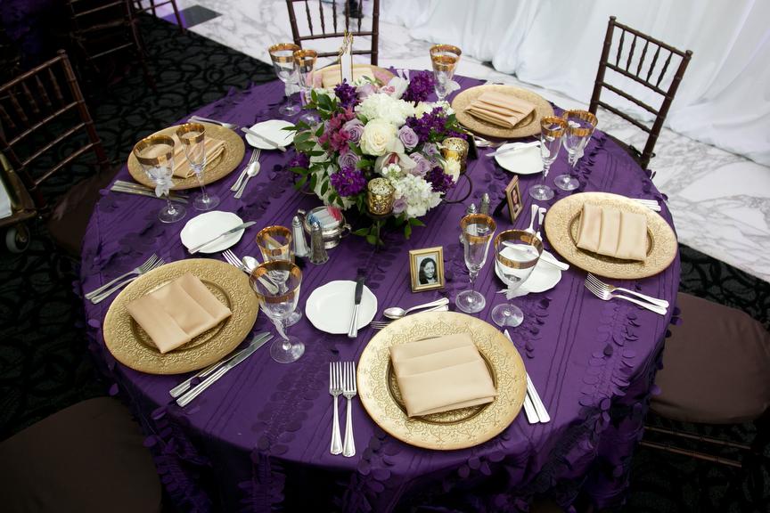 Purple And Gold Wedding Decor