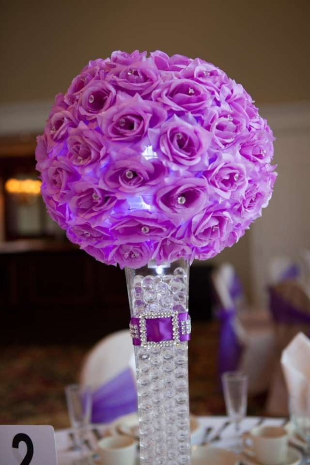 purple decorations for weddings purple centerpieces for wedding 6886