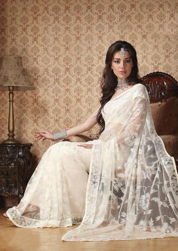 1000 Images About Wedding Sarees On Emasscraft Org Popular White Saree