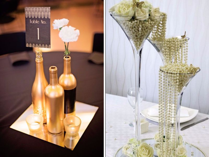 Great Gatsby Wedding Centerpieces