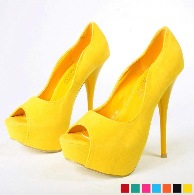 Yellow Heels For Wedding