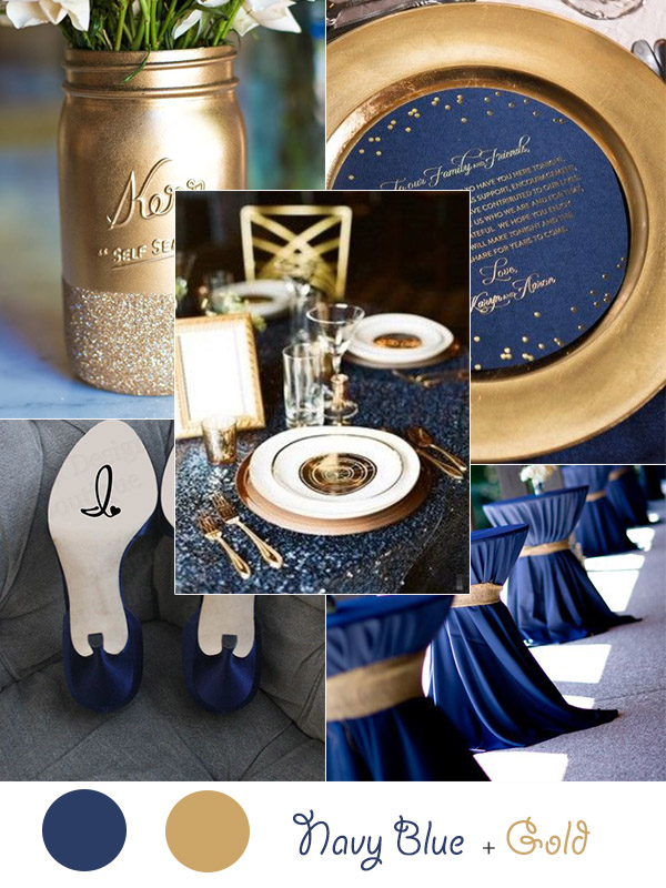 Navy Gold Wedding