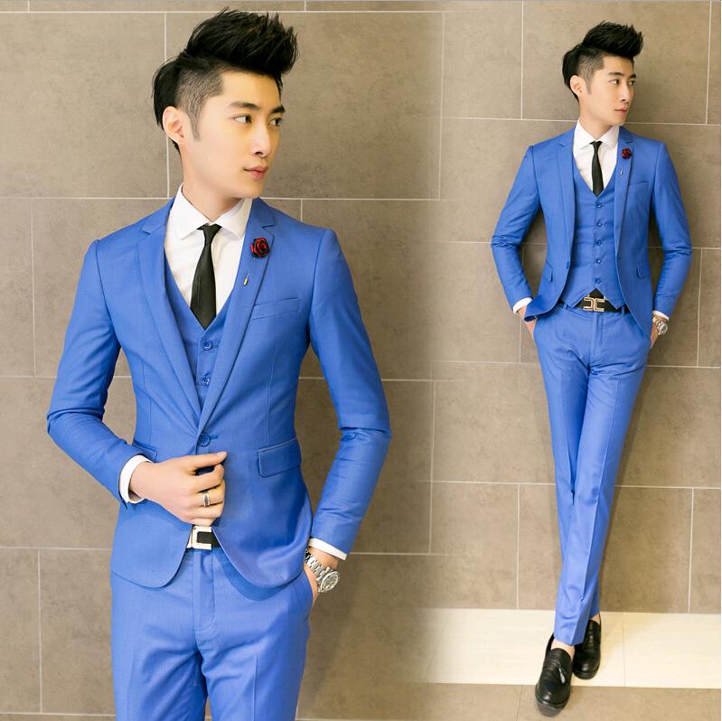 Light Blue Suit Wedding