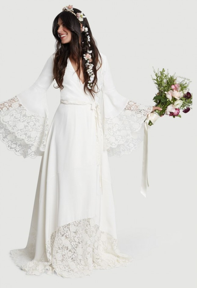 Bell Sleeve Lace Maxi Dress 20 Wedding Dresses For The Bohemian Bride