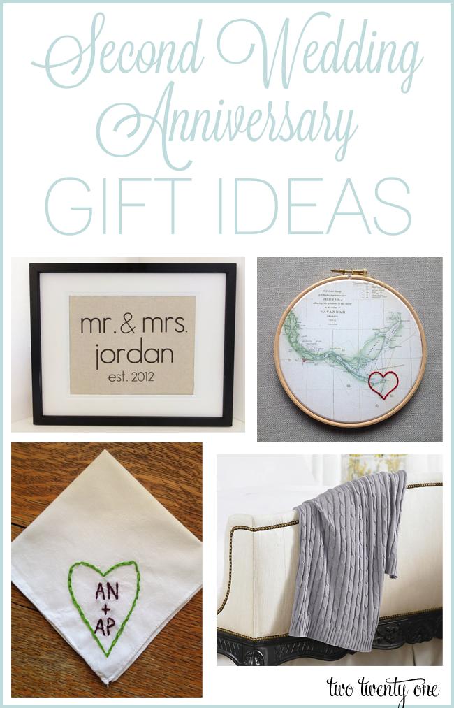 2 Year Wedding Anniversary Gift Ideas